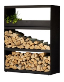 Wood Storage Cabinet Black