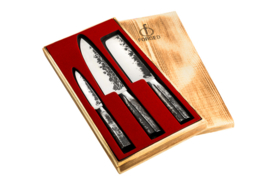 Intense Forged 3-part Kitchen Knives Set / 3-delige Keukenmessenset