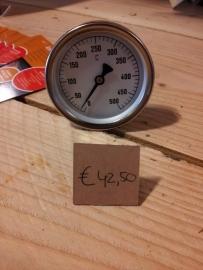 Rookoven temperatuurmeter  (0 - 500 C°) 4.5 cm stiftlengte doorsnede klok 6.5