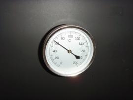 Rookoven temperatuurmeter 20 cm doorsnede klok 8.0 cm