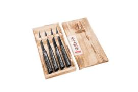 Brute Forged 4-part Steak Knives Set / 4-delige Steakmessenset