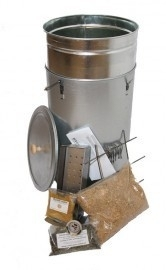 Rookoven Telescopisch Round XL Gegalvaniseerd Ø 33 cm