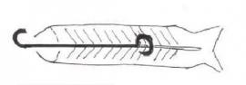 5 x RVS Rookhaak | 14 cm Standaard forelhaken