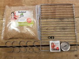 Rookoven Scarlino 70 x 39 x 33 Gegalvaniseerd (totaalpakket / met raam)