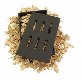 Gietijzeren rookdoos (smokebox) incl. gratis 500 gram beuk