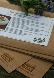 Koken IN hout Cedarwood Oven- en BBQ vellen (5 stuks)