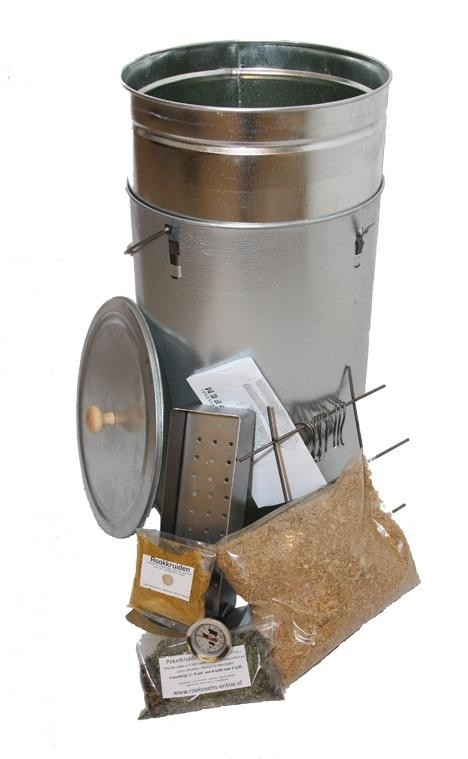 Rookoven Telescopisch Round RVS Ø 33 cm (compleet pakket)