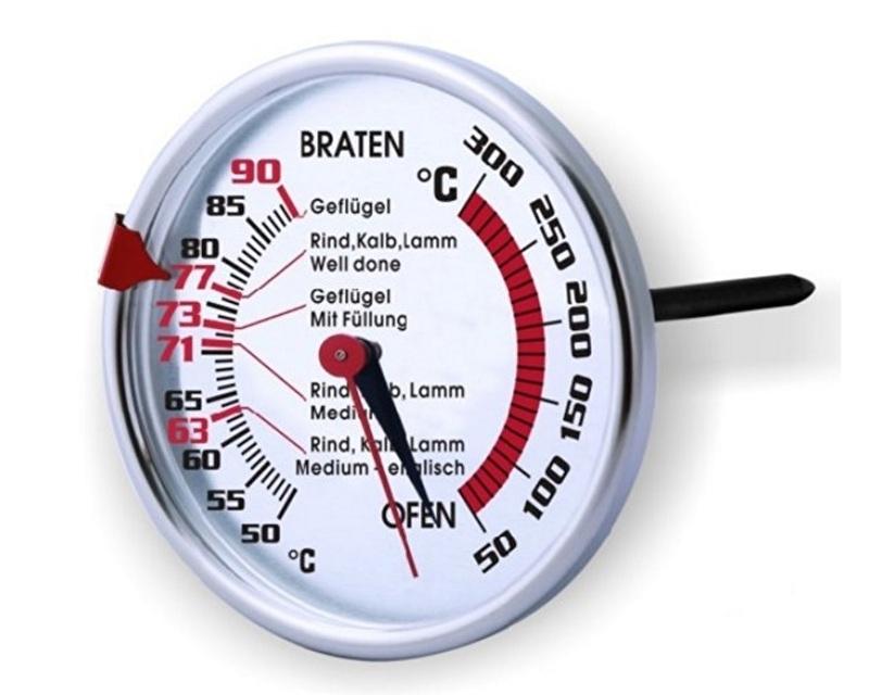 Braad-/Oventemperatuurmeter 3-in-1