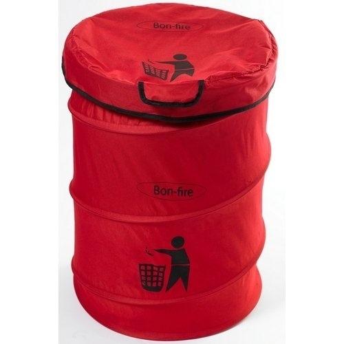 Bon-fire Folding dustbin w. a pole, nylon + bag