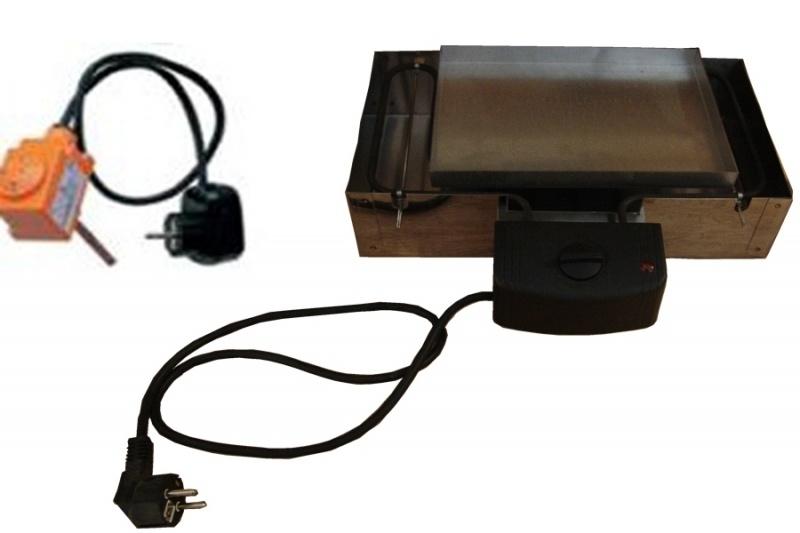 """Elektrisch spiraal met thermostaat voor rookoven """"Isolino"""" of eigenbouw (0 - 90c)"""