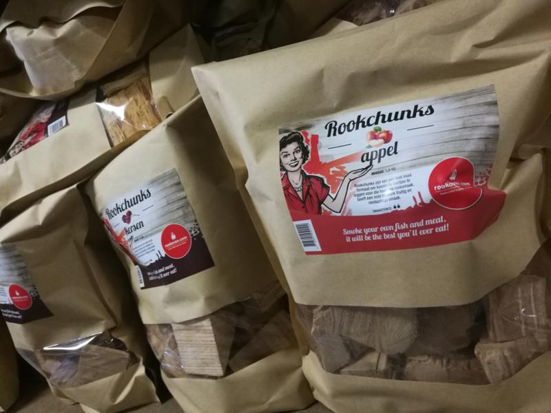 Voordeelpakket Rookchunks (5 soorten - beuk, eik, appel, kersen, hickory)
