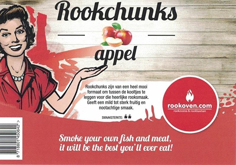 Rookchunks Appel (1,5kg)