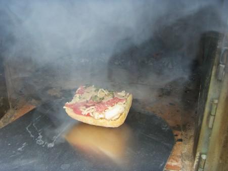 Ciabatta in de pizzaoven