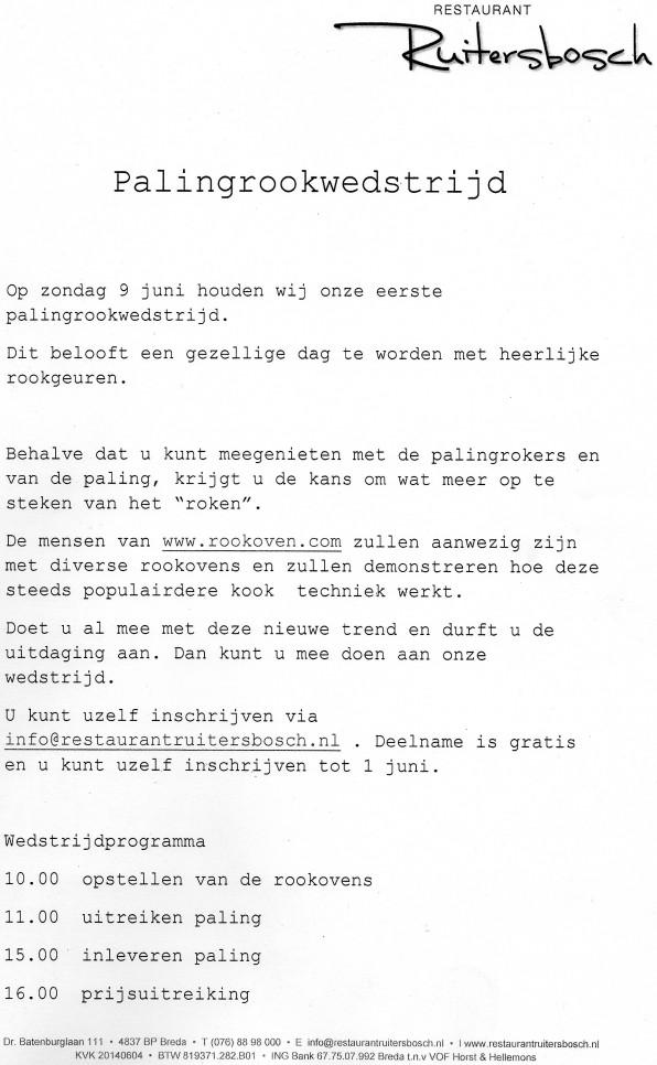 palingrook wedstrijd denbosch