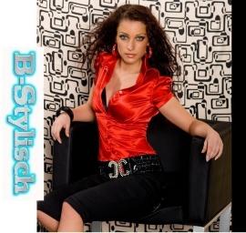 +-NeW+-Leuke Dames Blouse Rood maat M