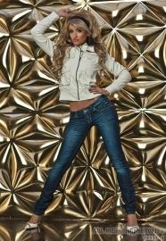 +-NeW+-Leuke Skinny Jeans met Rimpel Look! Maat M