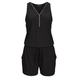 Actie! Leuke Mouwloze jumpsuit met rits Zwart maat XL