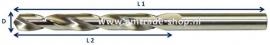 HSS-S spiraalboor vanaf Ø 1,00 x 34 x 12 blank geslepen per 10 stuks
