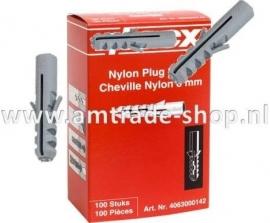 Nylon plug 5mm doos a 100 stuks