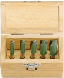 5-delige HM Frezenset groen Profi 80095