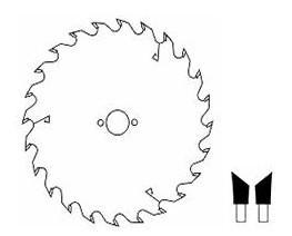 HM cirkelzaagblad Ø 250 (schulpen) 24 tanden