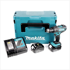 Makita DHP482RFJ 18V klopboor-/schroefmachine compleet in M-box