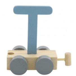 Treinletter T blauw