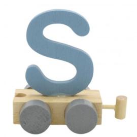 Treinletter S blauw