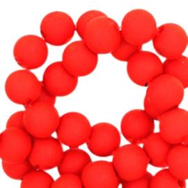 8 mm kraal van acryl red