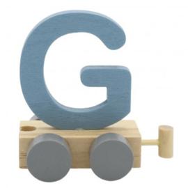 Treinletter G blauw
