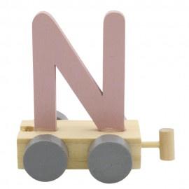 Treinletter N roze