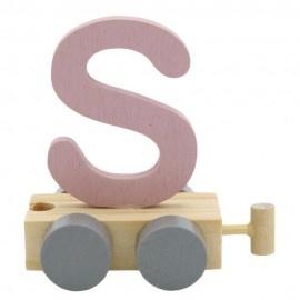 Treinletter S roze
