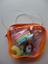Haarsetje Barbie oranje