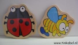 Puzzel lieveheersbeestje of bij