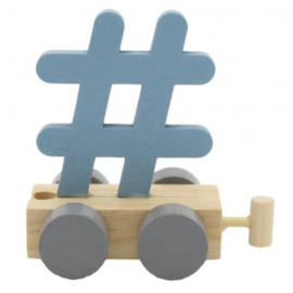 Hashtag blauw