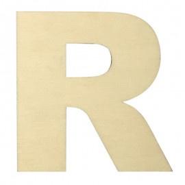 Houten plakletter R