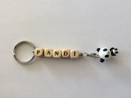 Naamsleutelhanger panda
