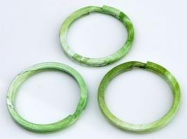 Metalen sleutelhanger ring groen