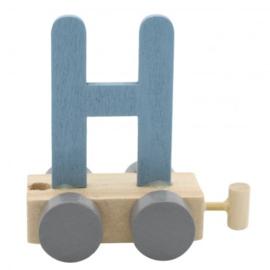 Treinletter H blauw