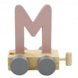Treinletter M roze