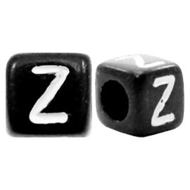 Acryl letterkraal zwart Z  (vierkant)
