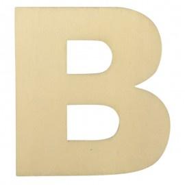 Houten plakletter B