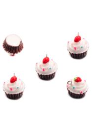 Kunststof hanger/bedel cupcake