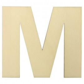 Houten plakletter M