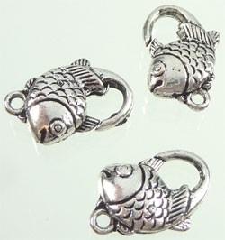 Metalen sleutelhanger/sluiting vis