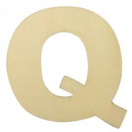 Houten plakletter Q