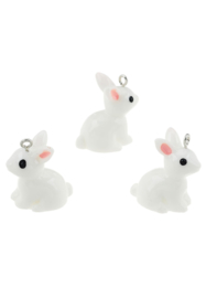 Kunststof hanger/bedel paddestoel konijn