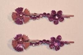 Haarschuifjes bloemen paars (17)