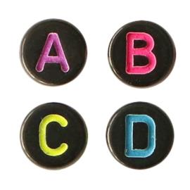 Acryl letterkalen black-rainbow