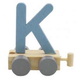 Treinletter K blauw